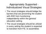 appropriately supported individualized visual strategies