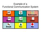 example of a functional communication system