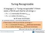 turing recognizable