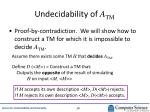 undecidability of a tm
