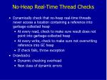 no heap real time thread checks