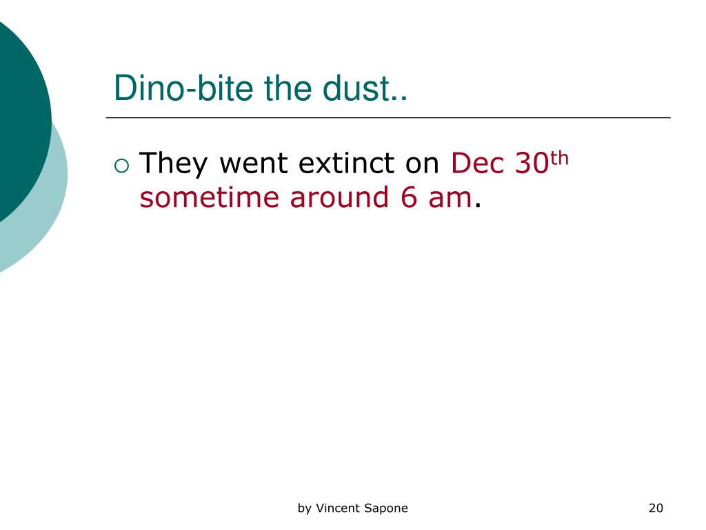 Dino-bite the dust..