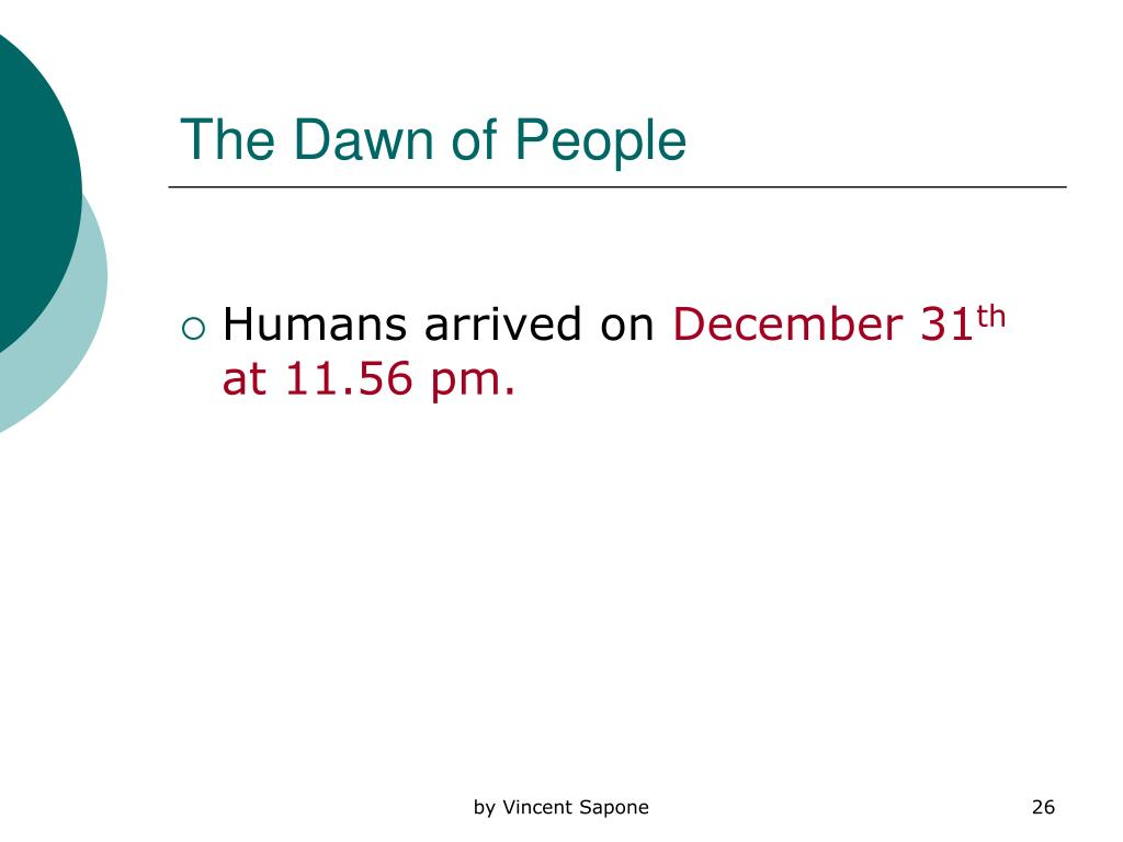 The Dawn of People