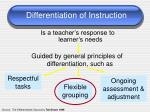 differentiation of instruction1