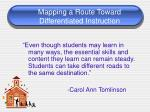 mapping a route toward differentiated instruction