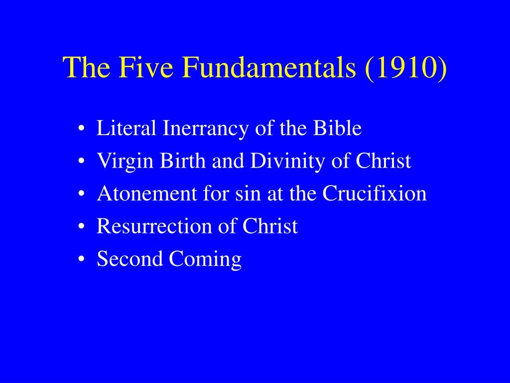 The Five Fundamentals (1910)