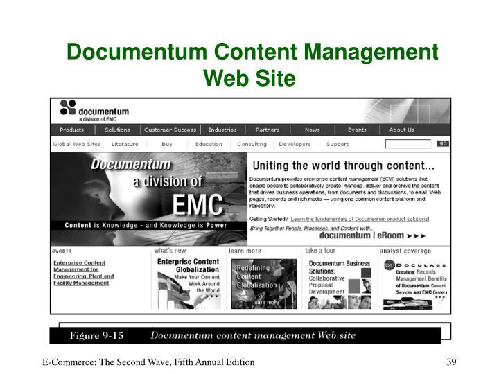 Documentum Content Management Web Site