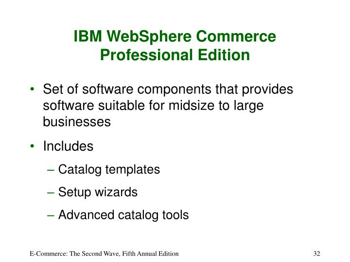 IBM WebSphere Commerce Professional Edition