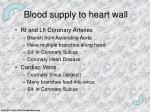 blood supply to heart wall