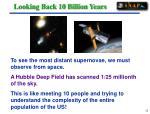 looking back 10 billion years35