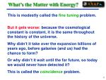 what s the matter with energy17