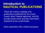introduction to nautical publications
