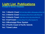 light list publications printed in seven volumes