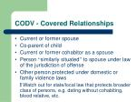 codv covered relationships