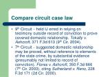 compare circuit case law