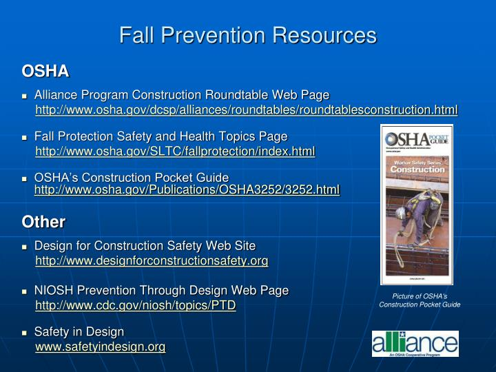Fall Prevention Resources