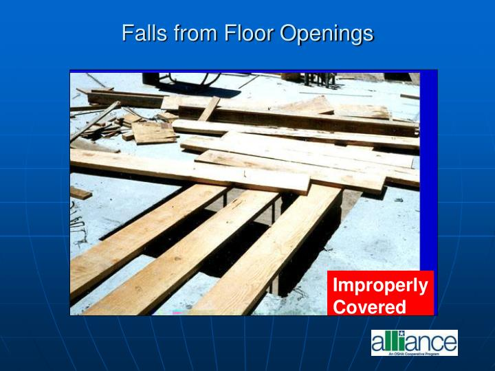 Falls from Floor Openings