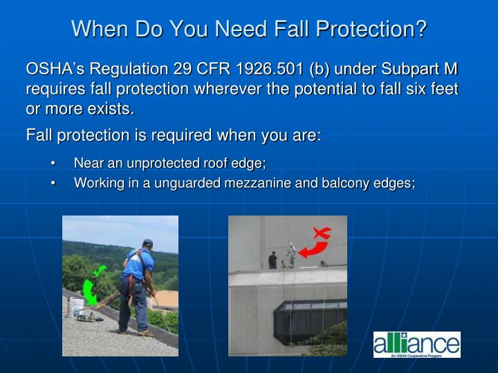 When Do You Need Fall Protection?