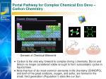 portal pathway for complex chemical evo devo carbon chemistry