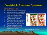 facet joint extension syndrome1