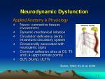 neurodynamic dysfunction