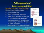 pathogenesis of inter vertebral disc