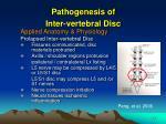 pathogenesis of inter vertebral disc1