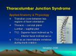 thoracolumbar junction syndrome