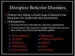 disruptive behavior disorders2