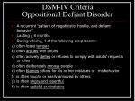 dsm iv criteria oppositional defiant disorder