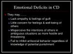 emotional deficits in cd