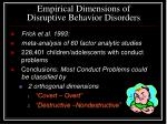 empirical dimensions of disruptive behavior disorders