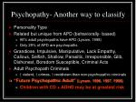 psychopathy another way to classify