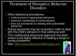 treatment of disruptive behavior disorders1