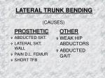 lateral trunk bending