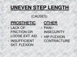 uneven step length