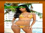management of intra abdominal infection12
