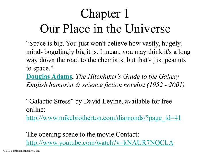 chapter 1 our place in the universe n.