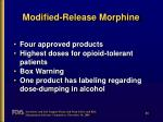 modified release morphine