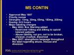 ms contin
