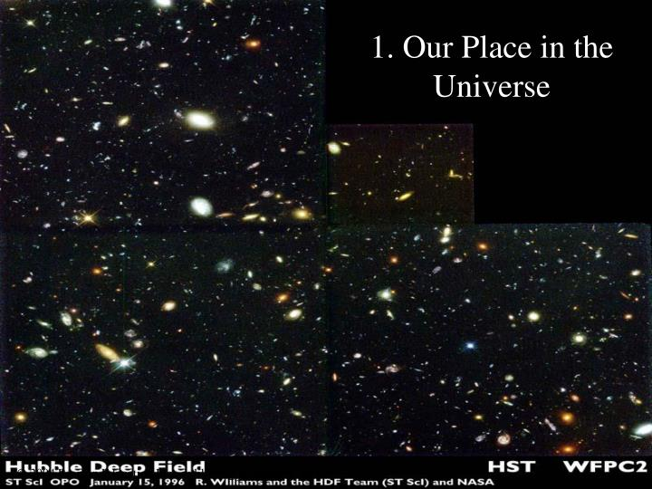 1 our place in the universe n.