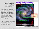 how large is our galaxy