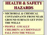health safety hazards