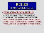 rules r 325 1665 rule 165 a