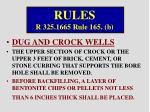 rules r 325 1665 rule 165 b
