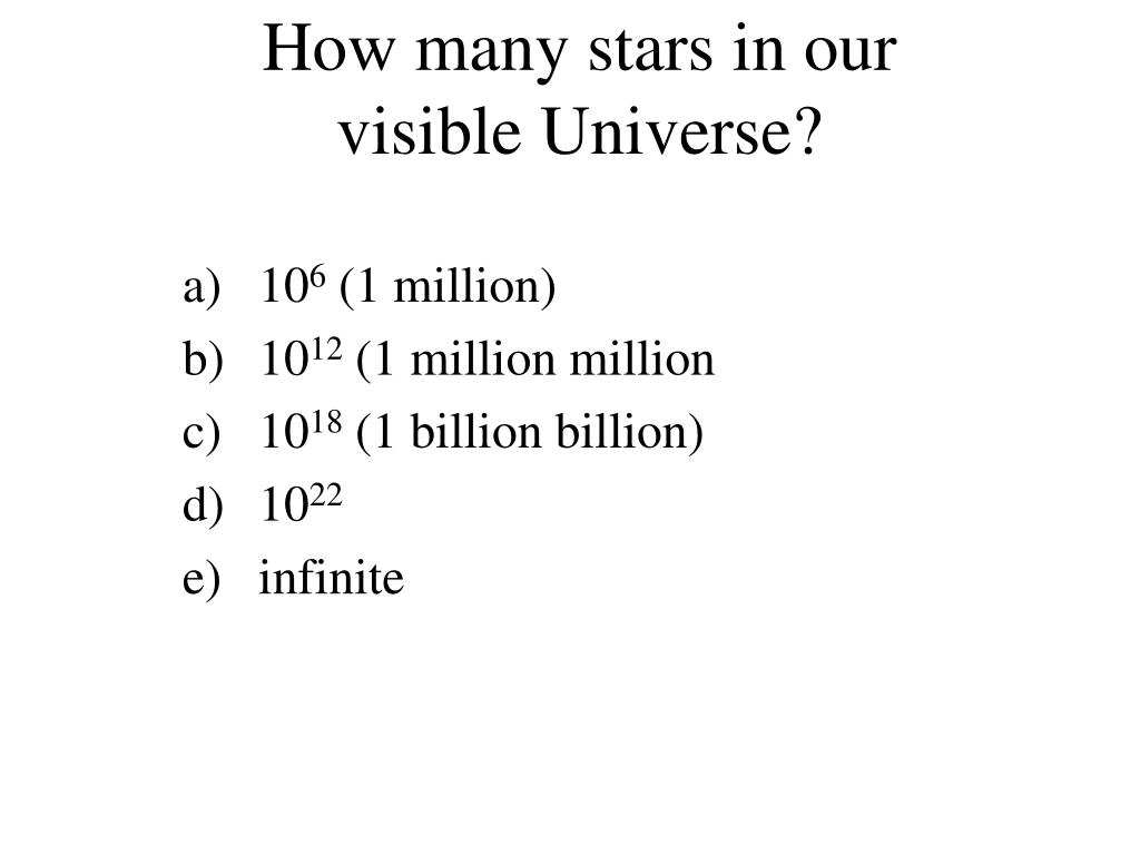 How many stars in our