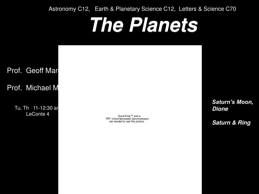 Astronomy C12,   Earth & Planetary Science C12,