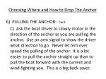 choosing where and how to drop the anchor5