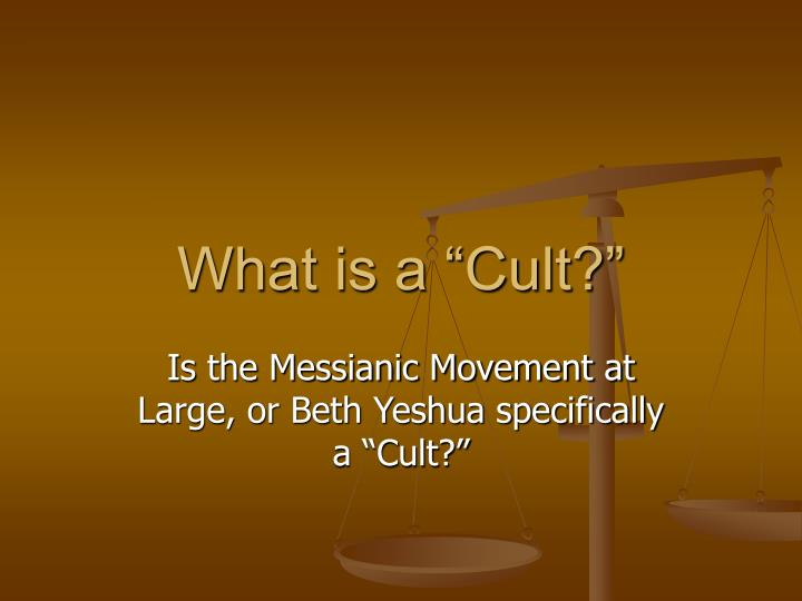 what is a cult n.