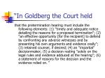 in goldberg the court held